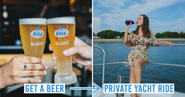 Kronenbourg beer giveaway yacht