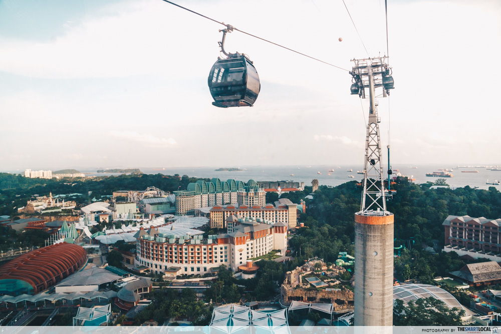 sentosa faber peak cable car