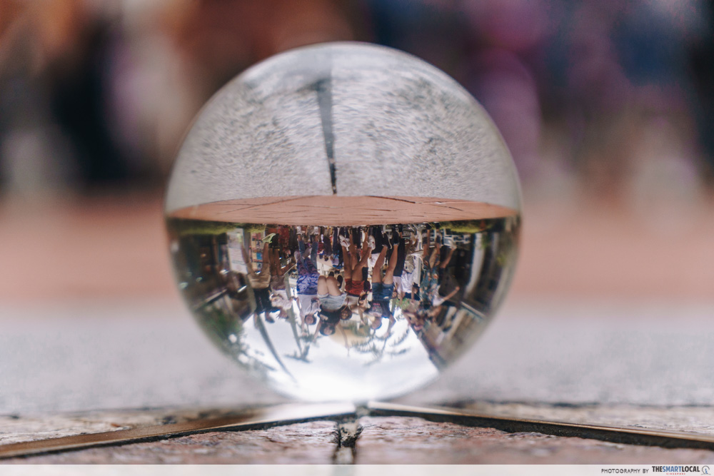 Kampong Glam in a crystal ball shot