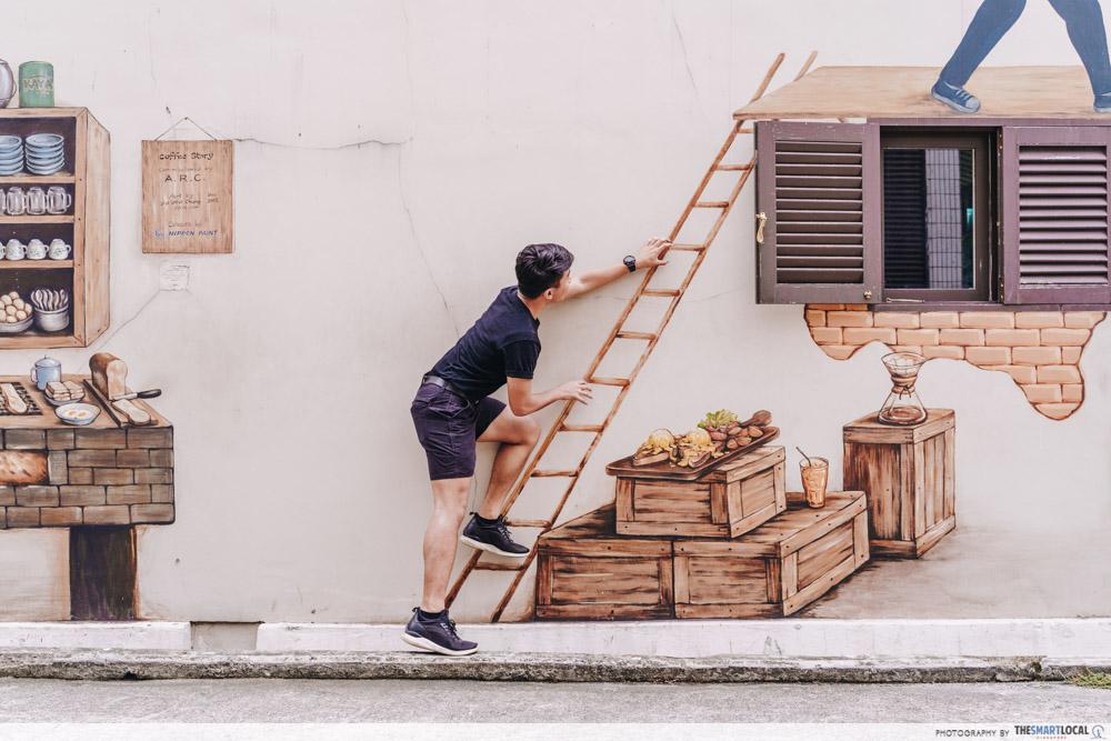 Wall murals along Kampong Glam