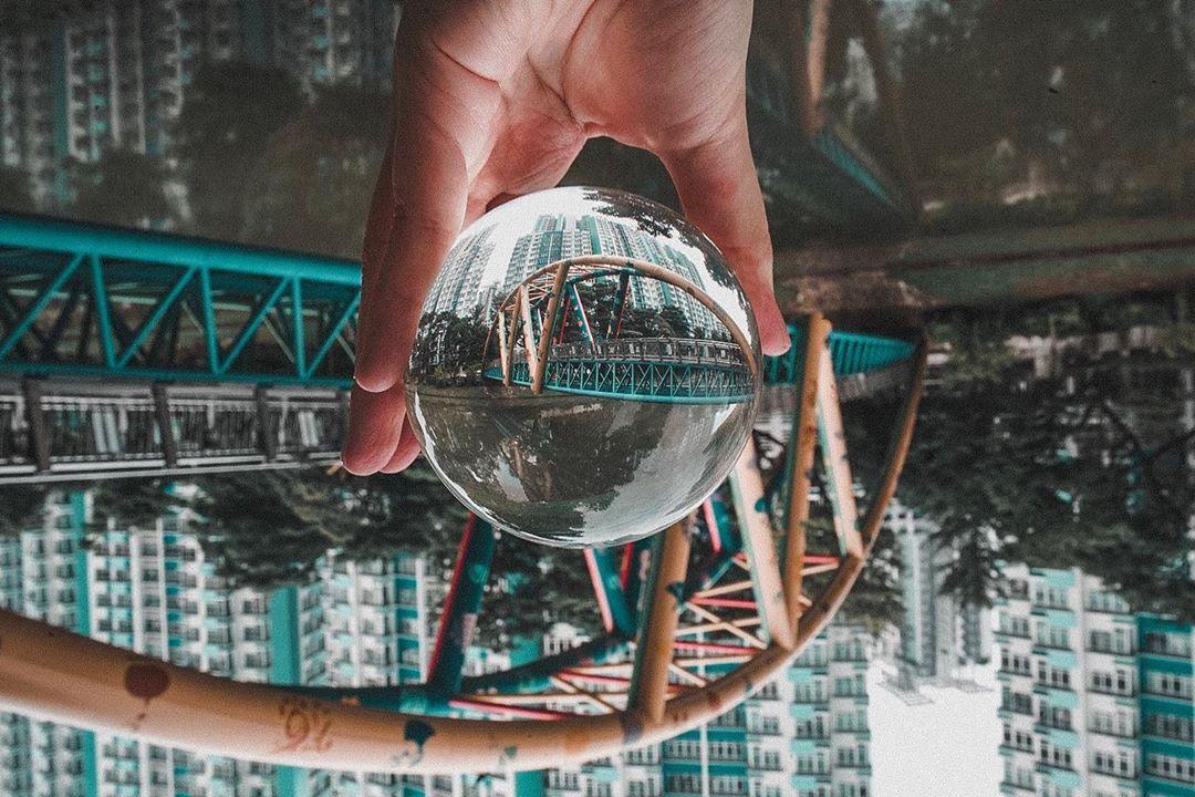 Glass ball shot at Kelom Ayer Waterfront