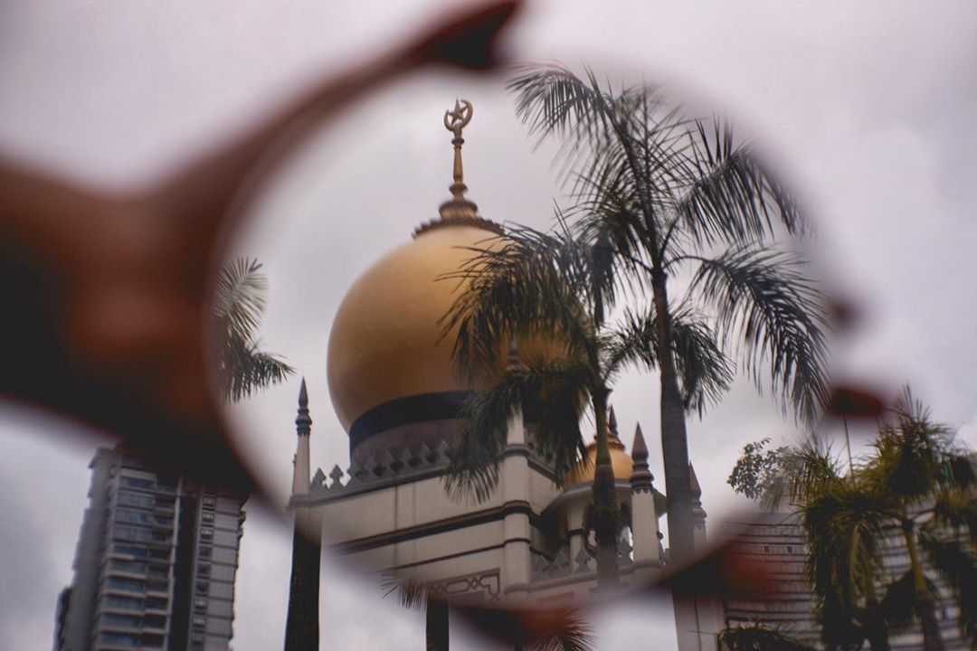 Photo of the Sultan Mosque along Kampong Glam
