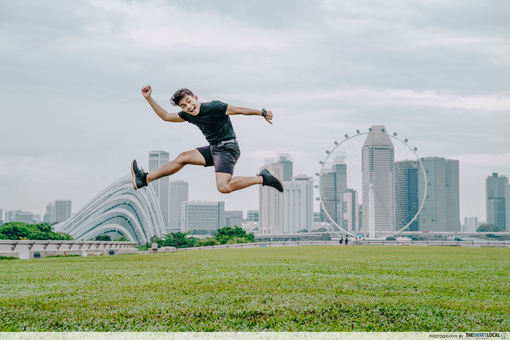 Jump shot at Marina Barrage