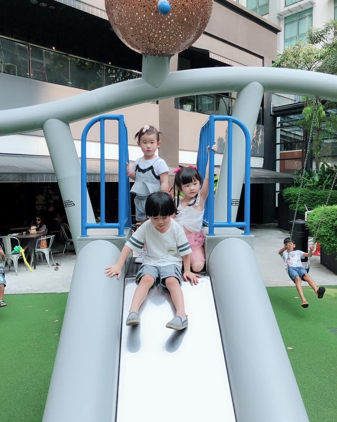 Outdoor playground at Namoo on the Park