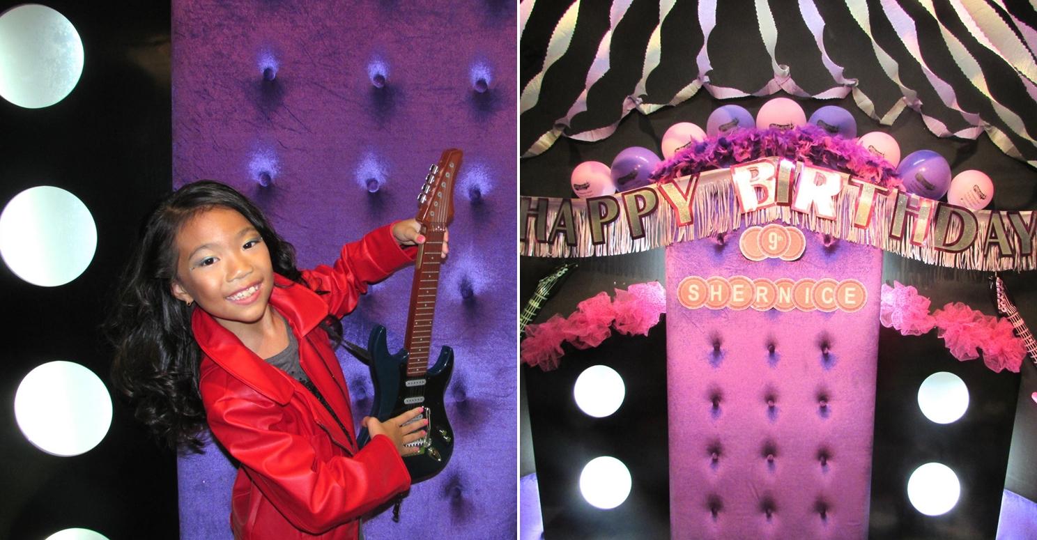 Curly N Spike purple backdrop