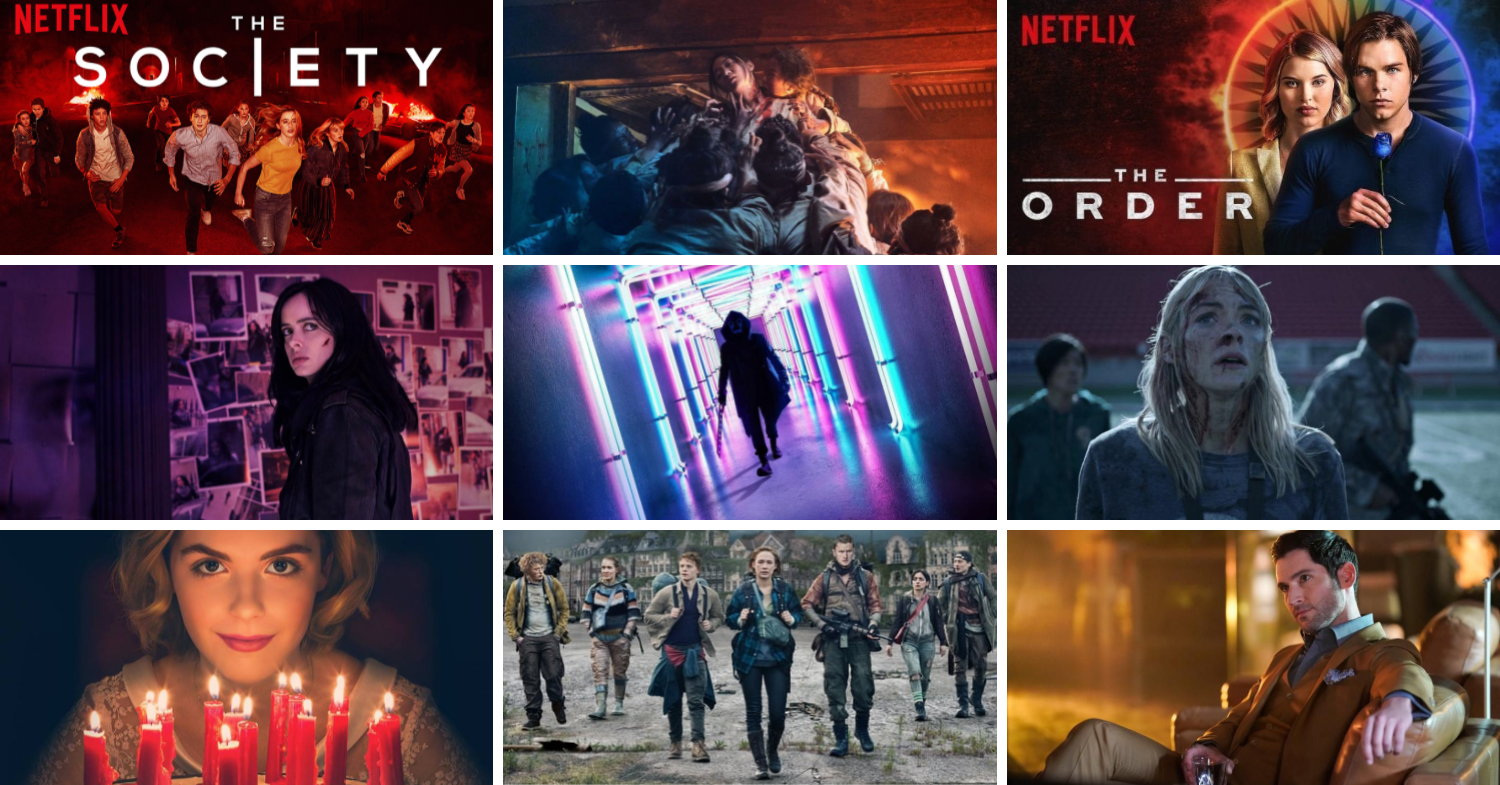collage of netflix tv series
