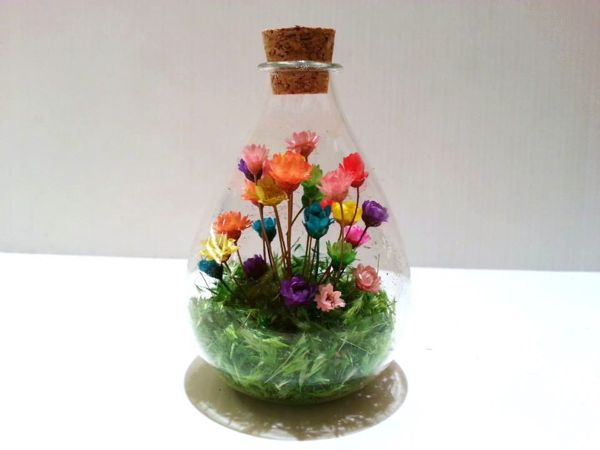 Cheap Terrariums Love in A Bottle Japan Mini Flowers