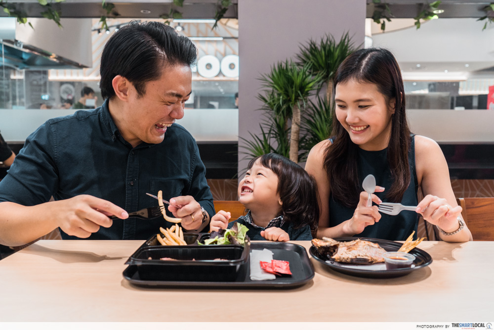 FairPrice Xtra and Unity VivoCity - family dining together