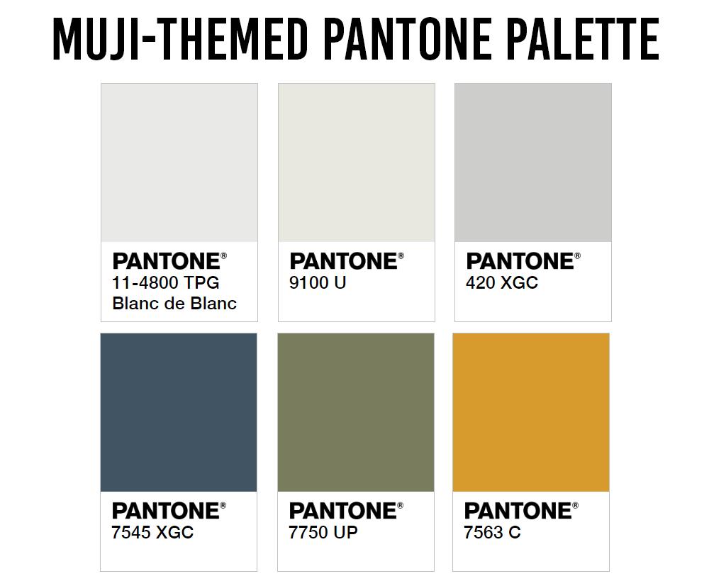 HDB Colour Scheme Pantone Interior Design Muji Palette
