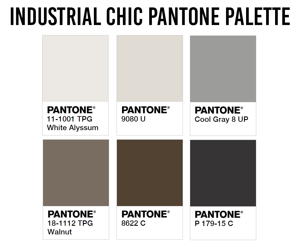 HDB Colour Scheme Pantone Interior Design Industrial Chic Palette