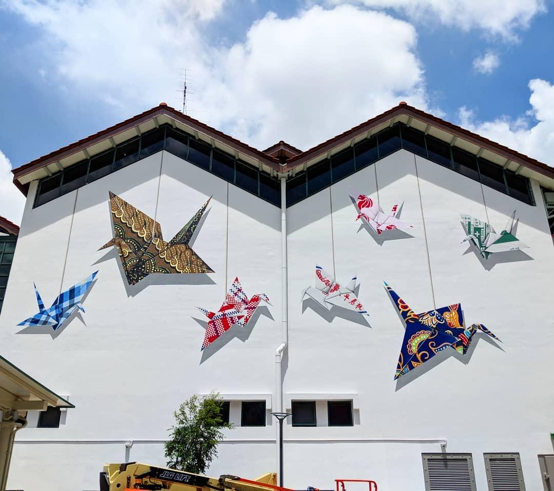 Instawalk Tampines Pre Pub Paper Crane Mural