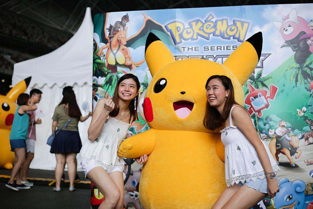 Japan Summer Festival 2019 - selfie with pikachu