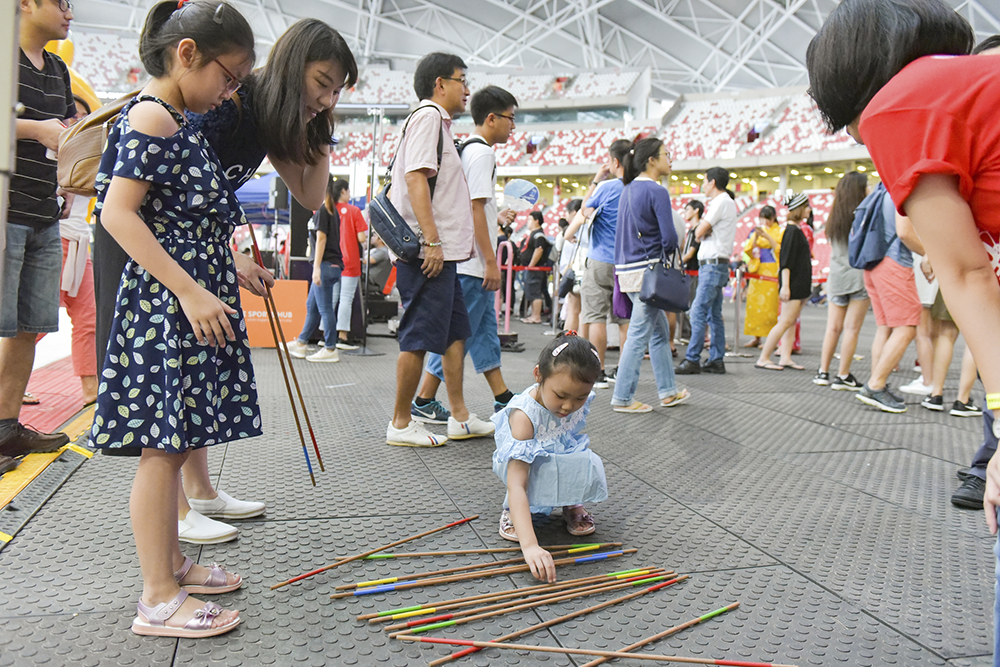 Japan Summer Festival 2019 - giant pick up sticks