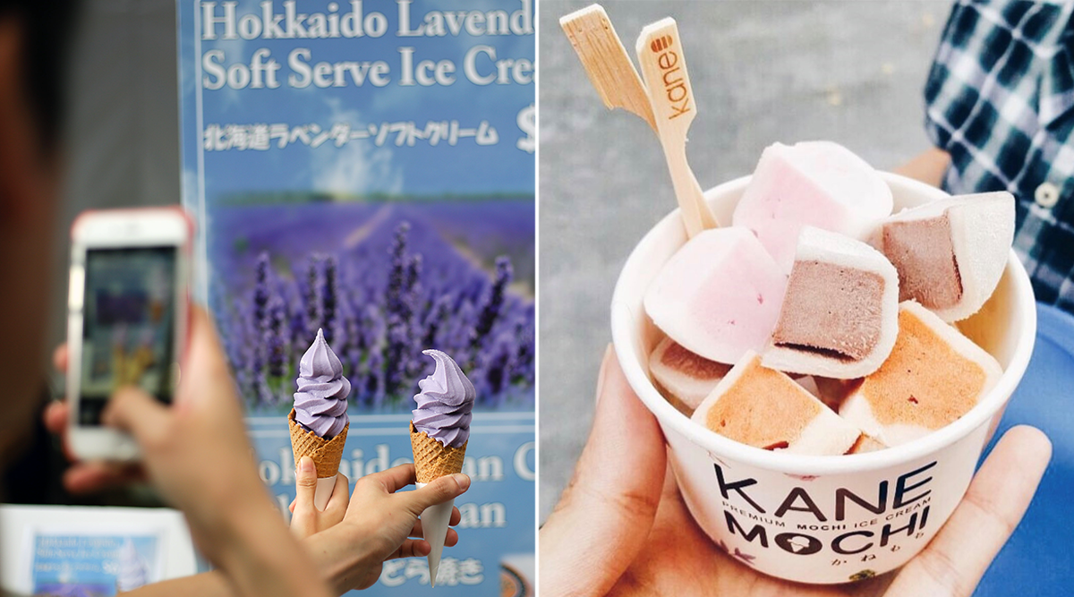 Japan Summer Festival 2019 - Enmaru soft serves, mochi ice cream bites from Kanemochi