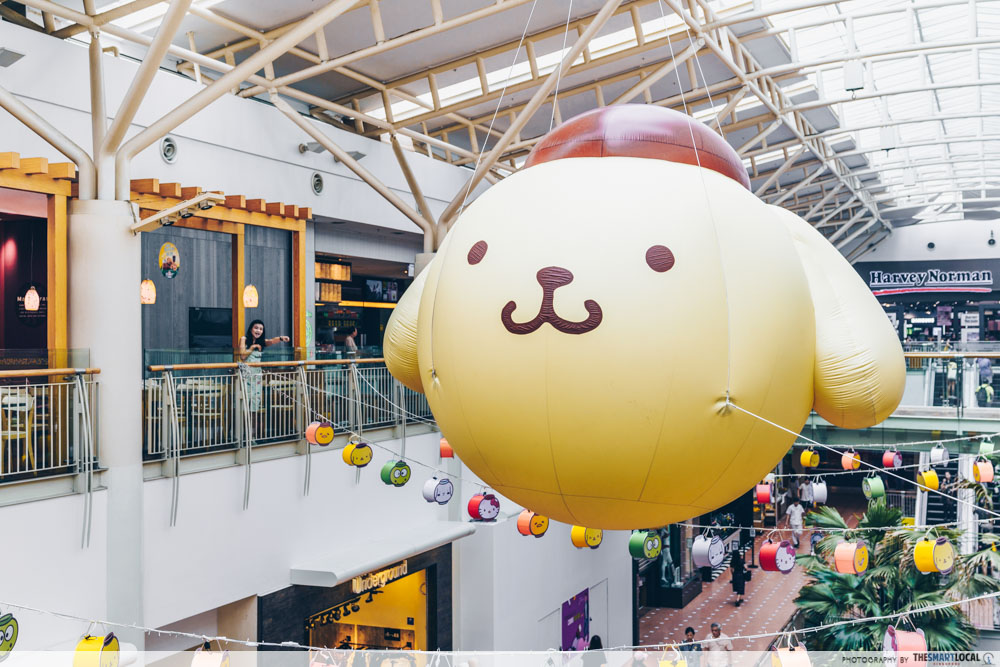 Jurong Point Sanrio Pompompurin inflatable
