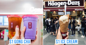 safra mt faber open house - collage of gong cha and ice cream
