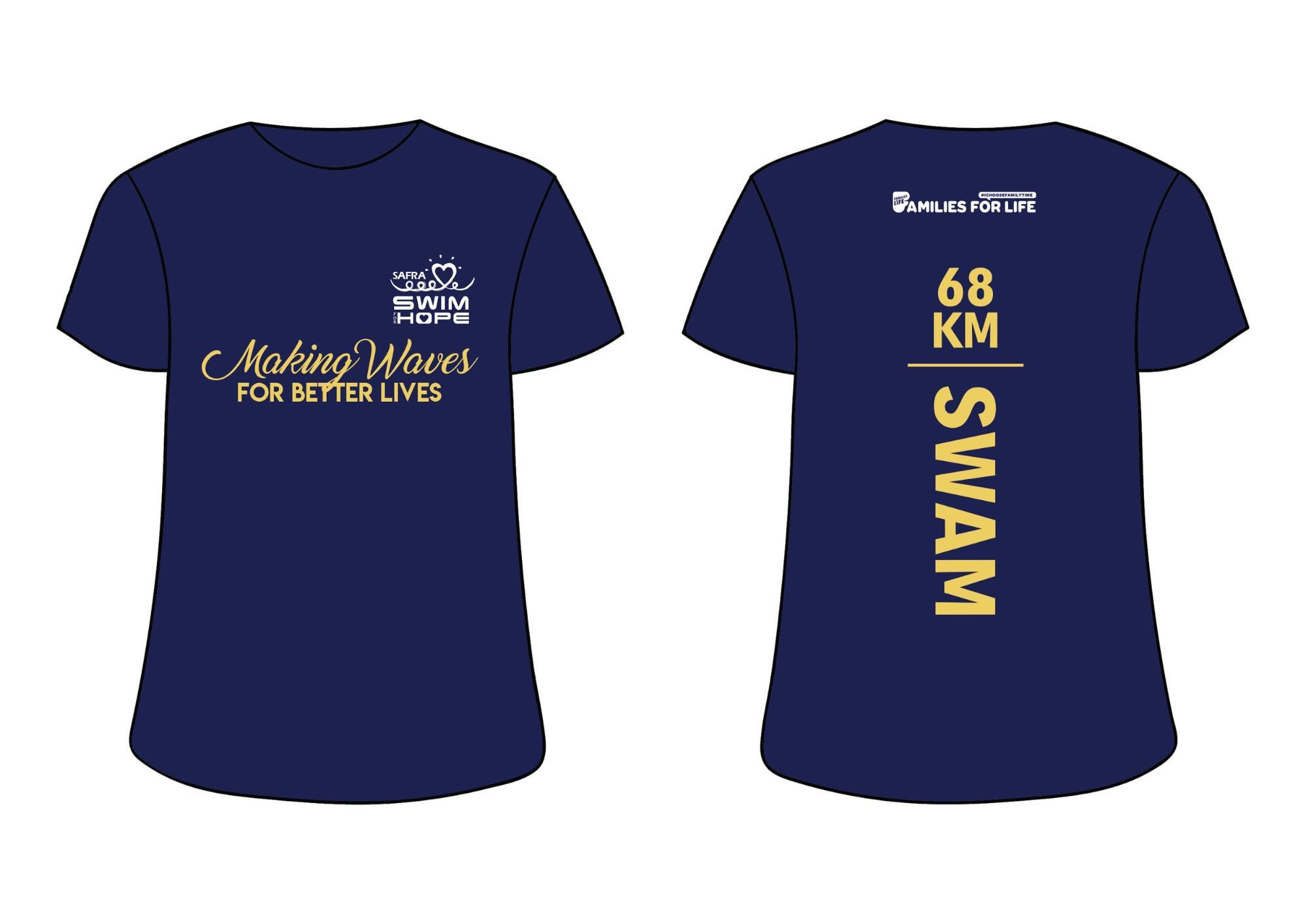 SAFRA Swim For Hope 2019 Donations Charity Finisher T-Shirt
