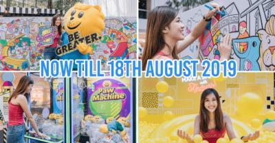 Singa Lion Pop Up InstaKindness Singapore Kindness Movement Raffles City TheSmartLocal