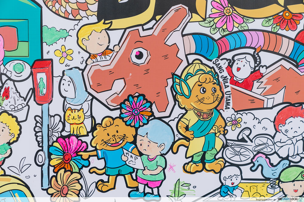 Singa Lion Pop Up InstaKindness Singapore Kindness Movement Raffles City Mural