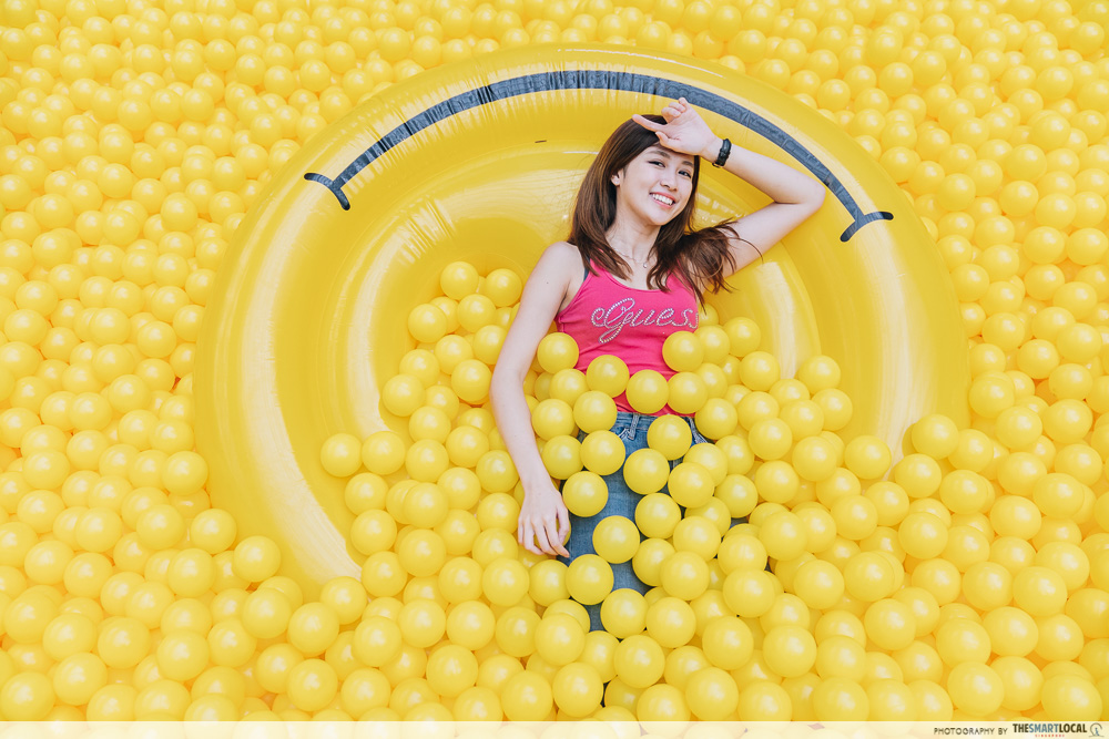 Singa Lion Pop Up InstaKindness Singapore Kindness Movement Raffles City Yellow Ball Pit