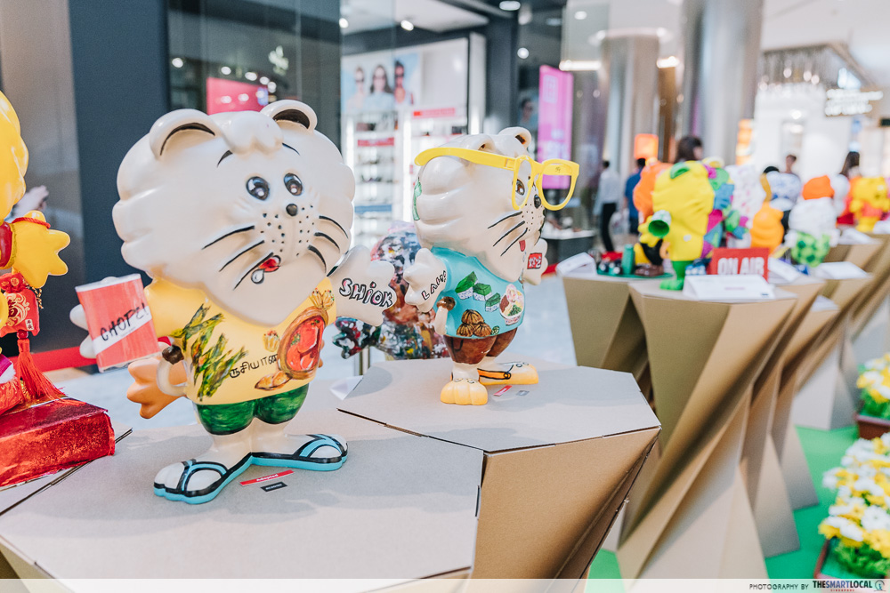 Singa Lion Pop Up InstaKindness Singapore Kindness Movement Raffles City Figurine Art