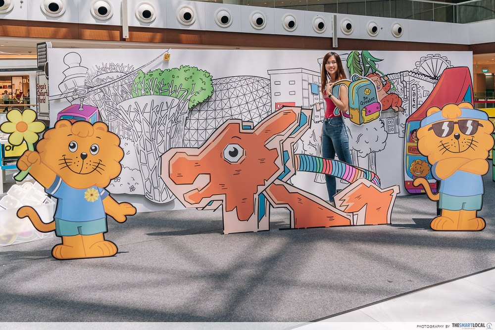 Singa Lion Pop Up InstaKindness Singapore Kindness Movement Raffles City Photo Wall