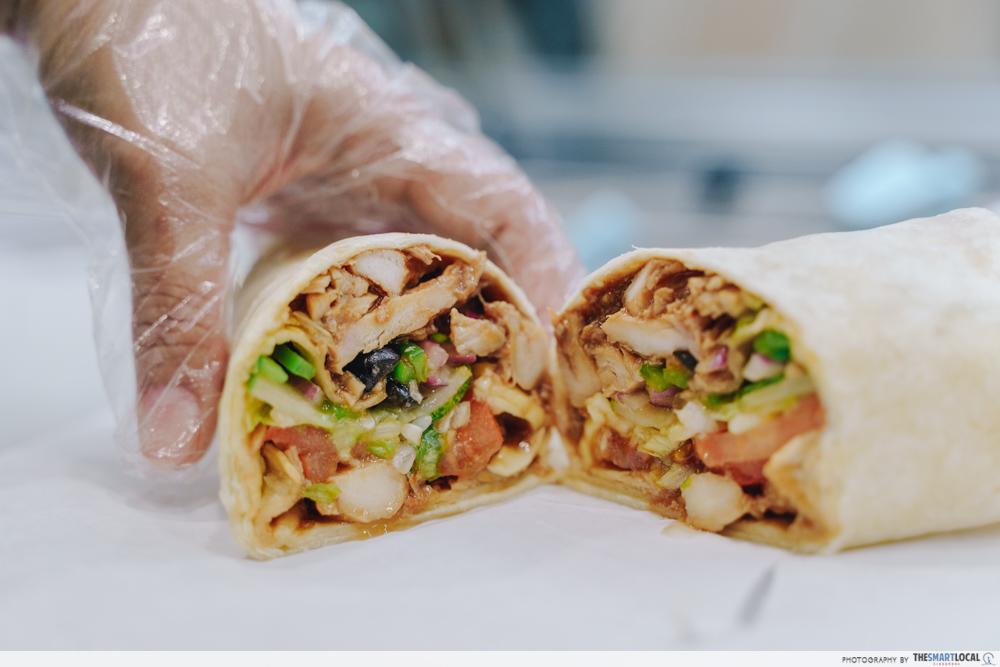 Subway Homestyle BBQ Chicken Singapore Tortilla Wrap