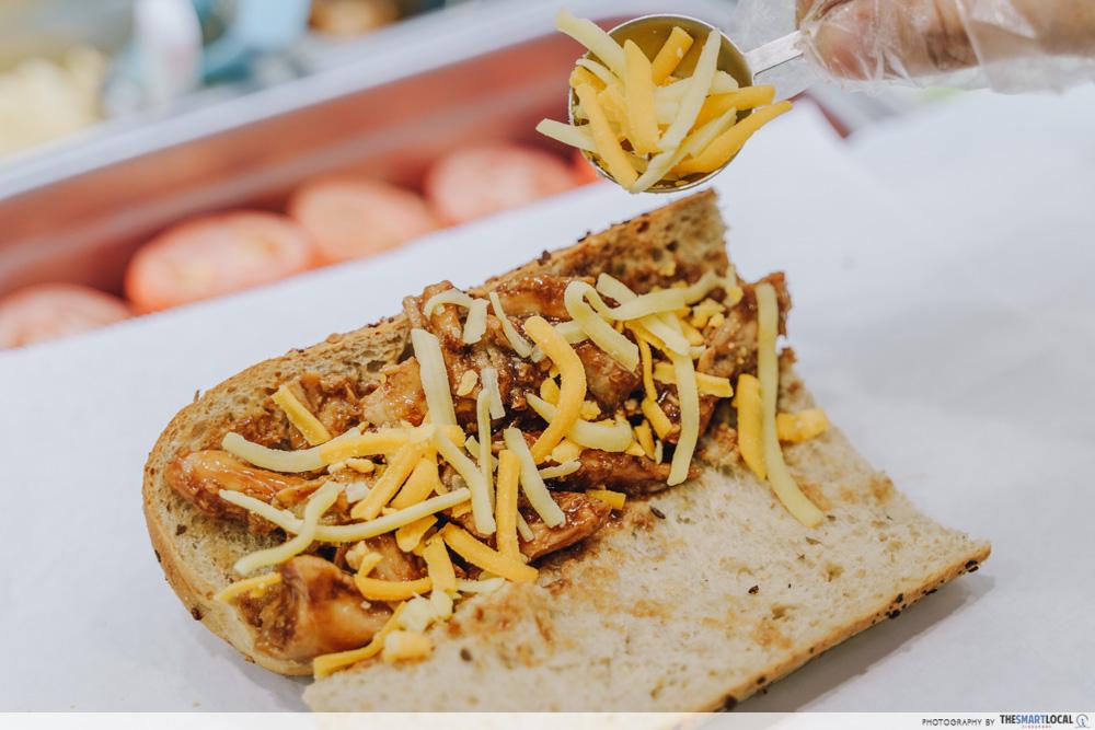 Subway Homestyle BBQ Chicken Singapore Cheddar Cheese