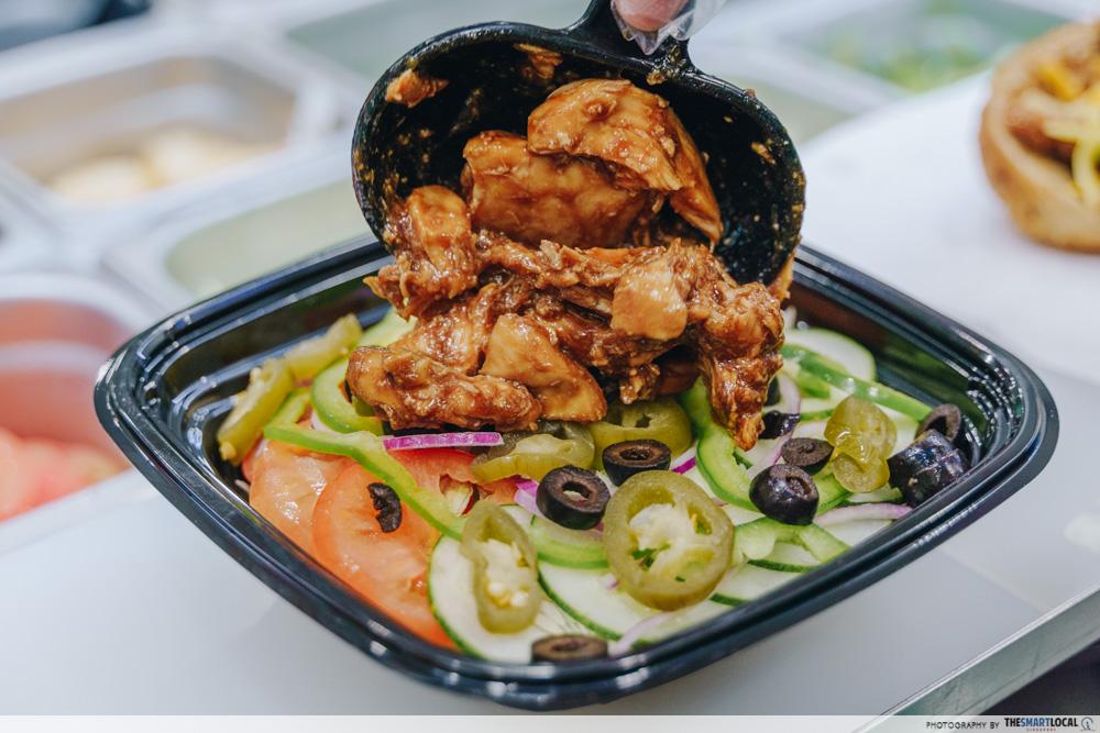Subway Homestyle BBQ Chicken Singapore Salad