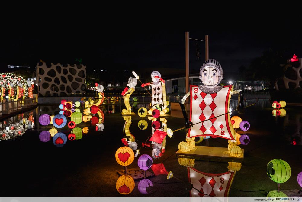 VivoCity Mid-Autumn 2019 Light-Up Alice in Wonderland Pool of Cards
