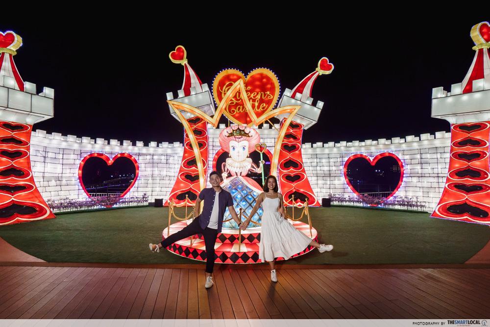 VivoCity Mid-Autumn 2019 Light-Up Alice in Wonderland Queen of Hearts
