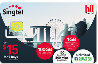 backpacking in singapore - singtel tourist sim card
