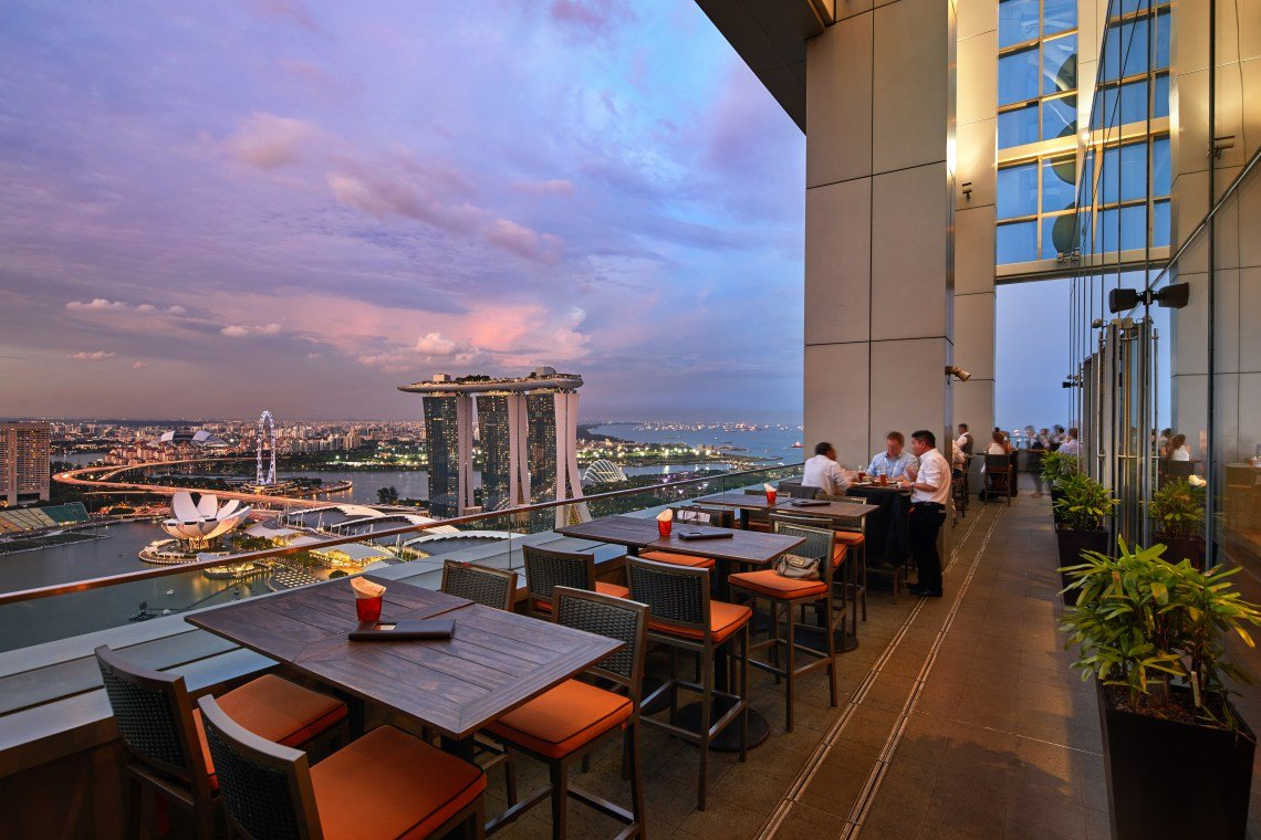backpacking in singapore - Marina boulevard level 33