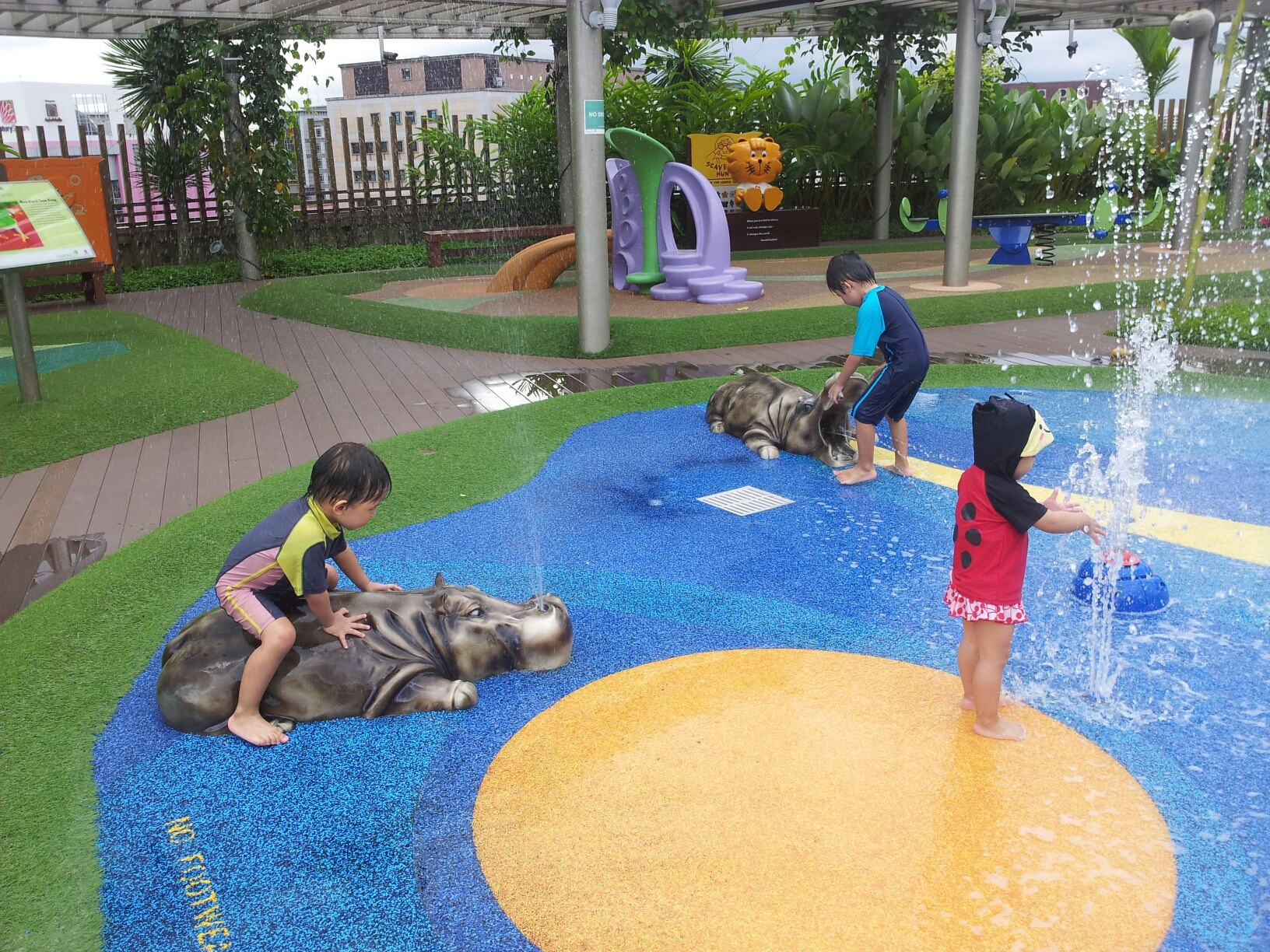 free playgrounds in mall - tampines 1 hippo structure