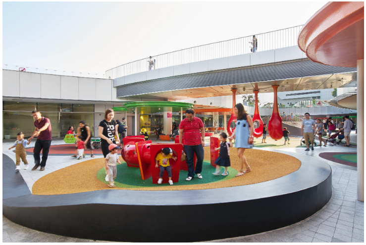 free playgrounds in mall - vivocity outdoor playground