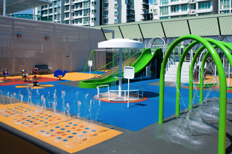 free playgrounds in mall - compass one rooftop playground