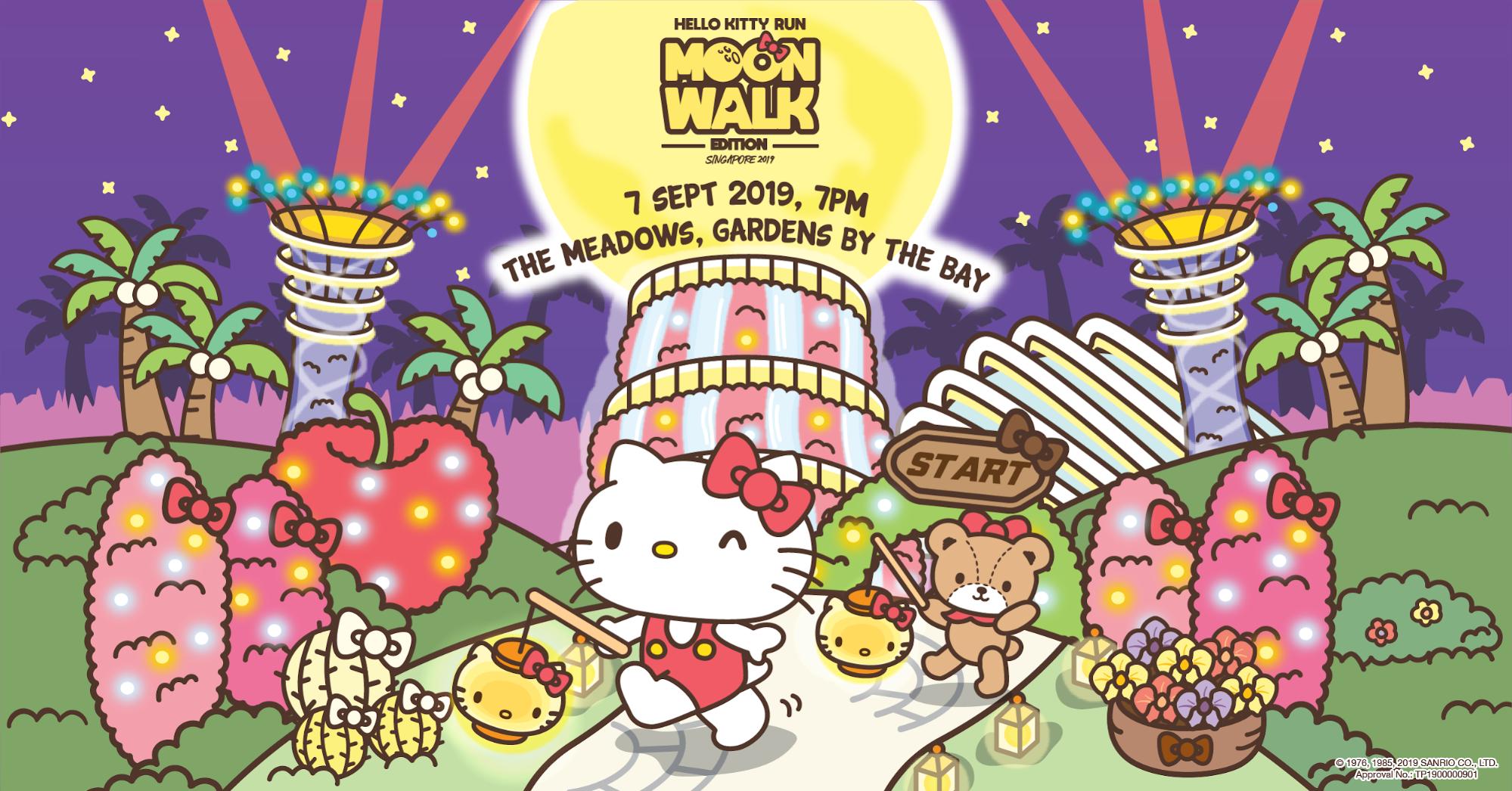 Hello Kitty Run 2019 - hello kitty run moon walk edition poster