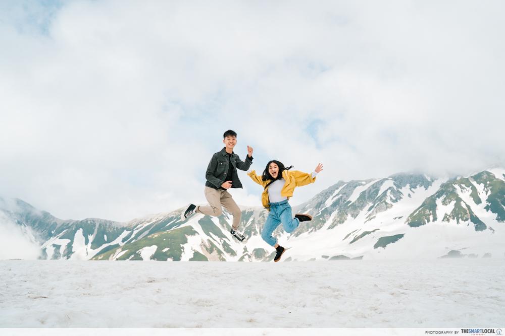 tateyama snow mountains