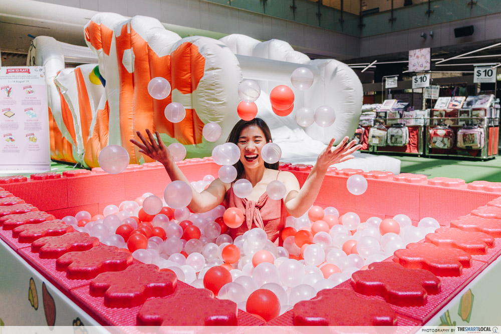 KINEX Mall Is Going Local With Ang Ku Kueh Workshops & A Dragon Playground Bouncy Castle ball pit