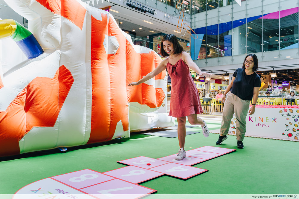 KINEX Mall Is Going Local With Ang Ku Kueh Workshops & A Dragon Playground Bouncy Castle hopscotch