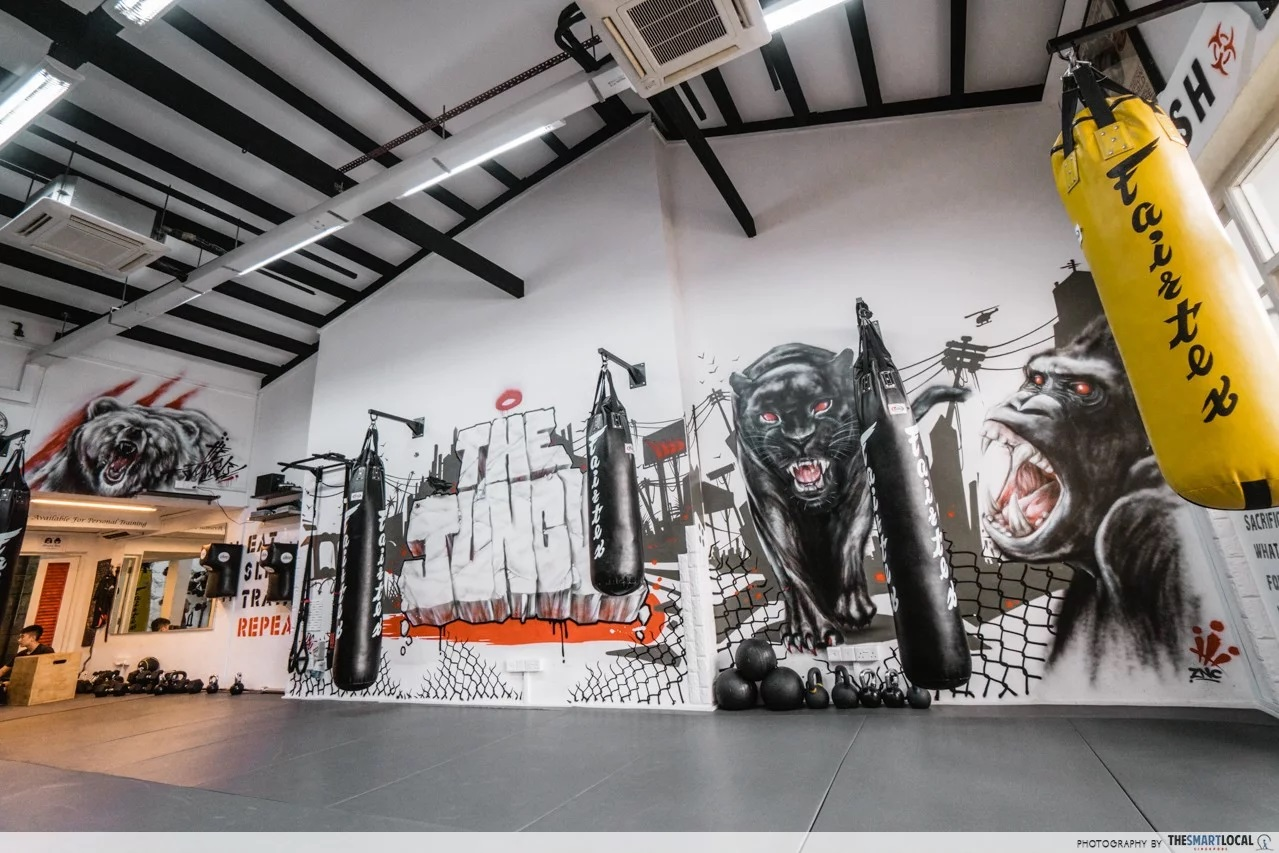 10 Cheap Martial Arts Classes In Singapore's CBD Area Below $29/Session graffiti art gym