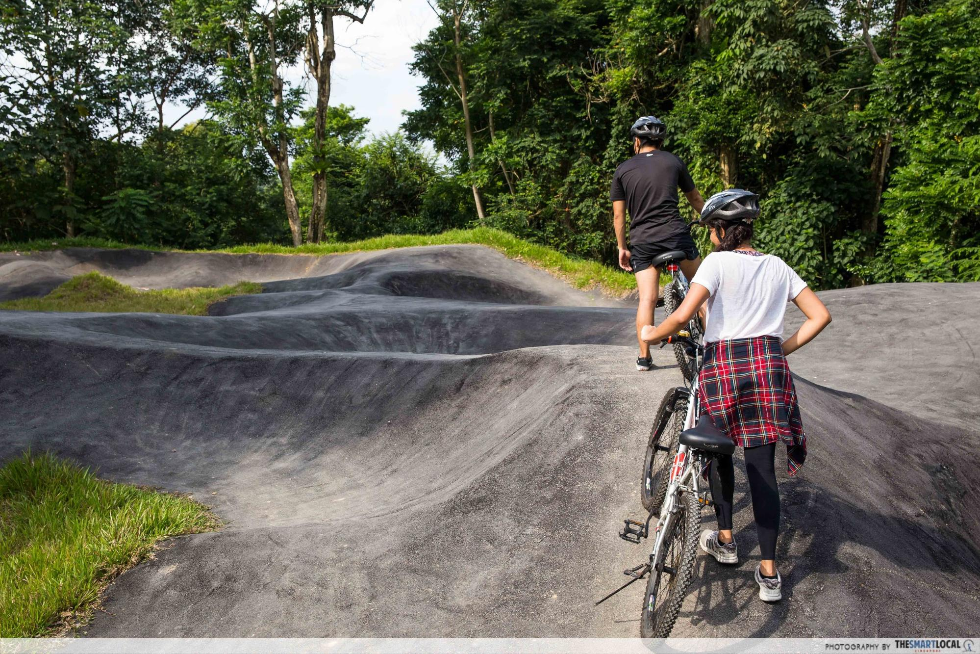 nature reserves and parks - chestnut pump track at chestnut nature park