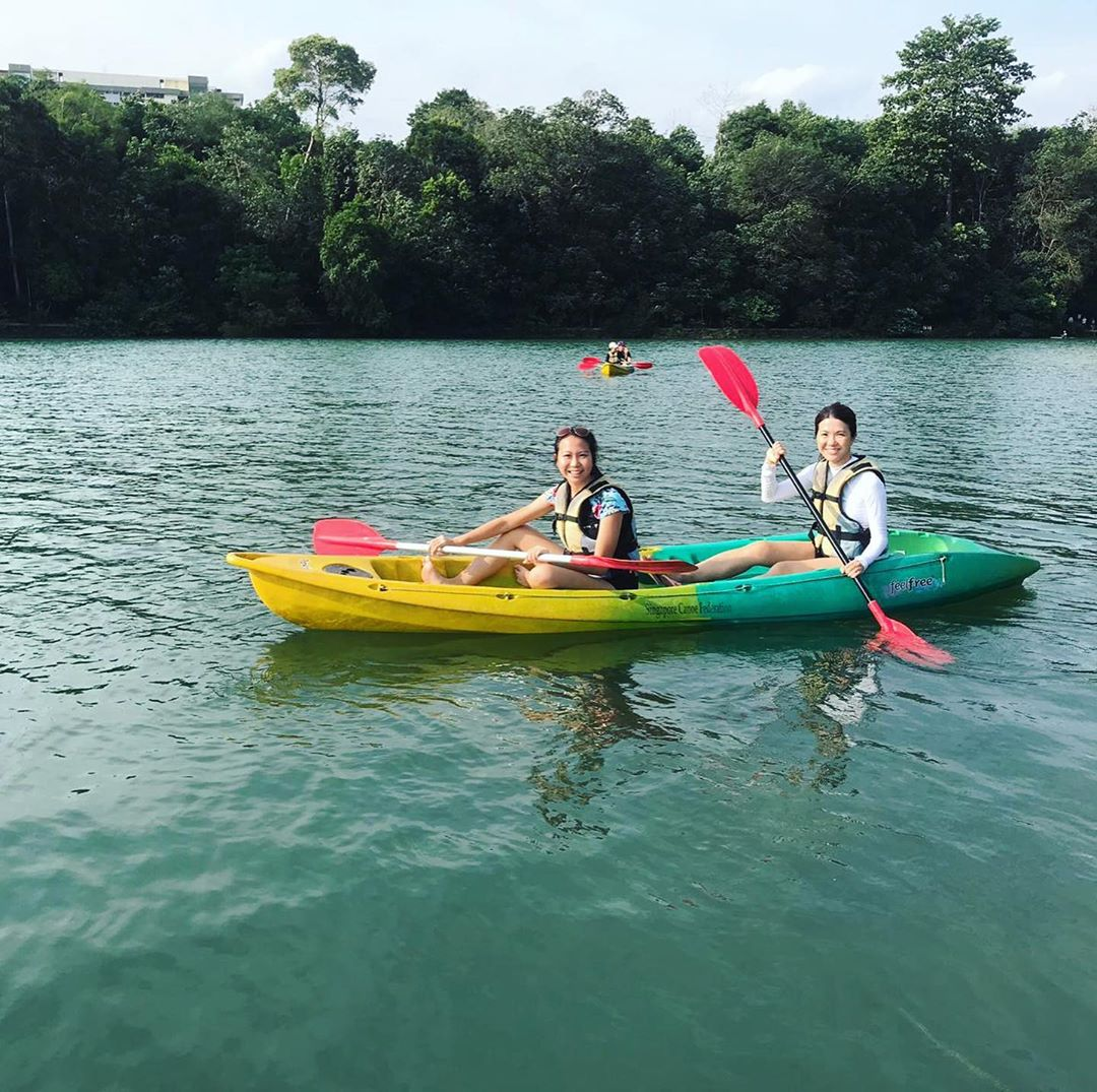 nature reserves and parks - kayak at macritchie reservoir