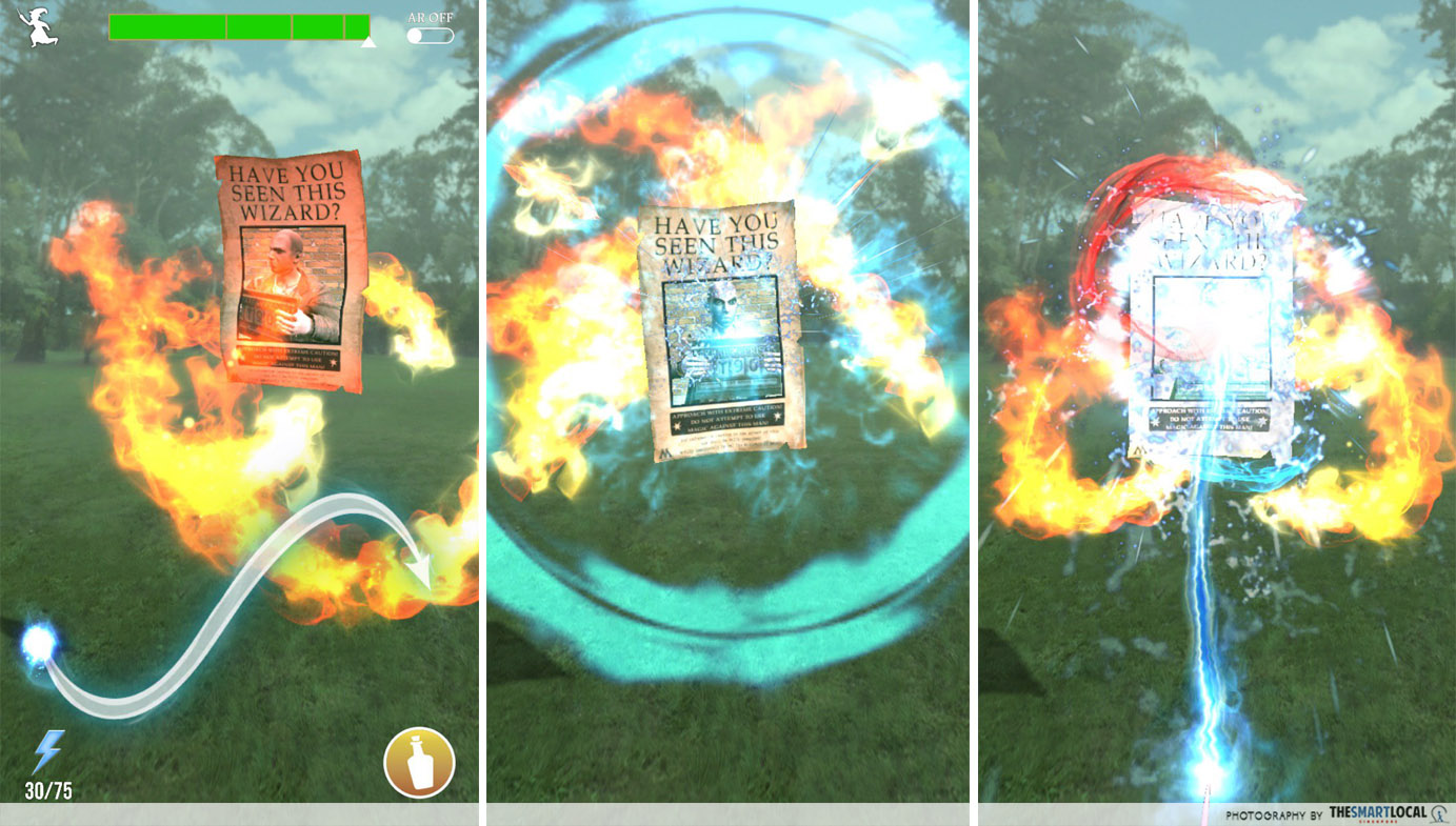 New Mobile Games - screenshots of Harry Potter Wizards Unite gameplay