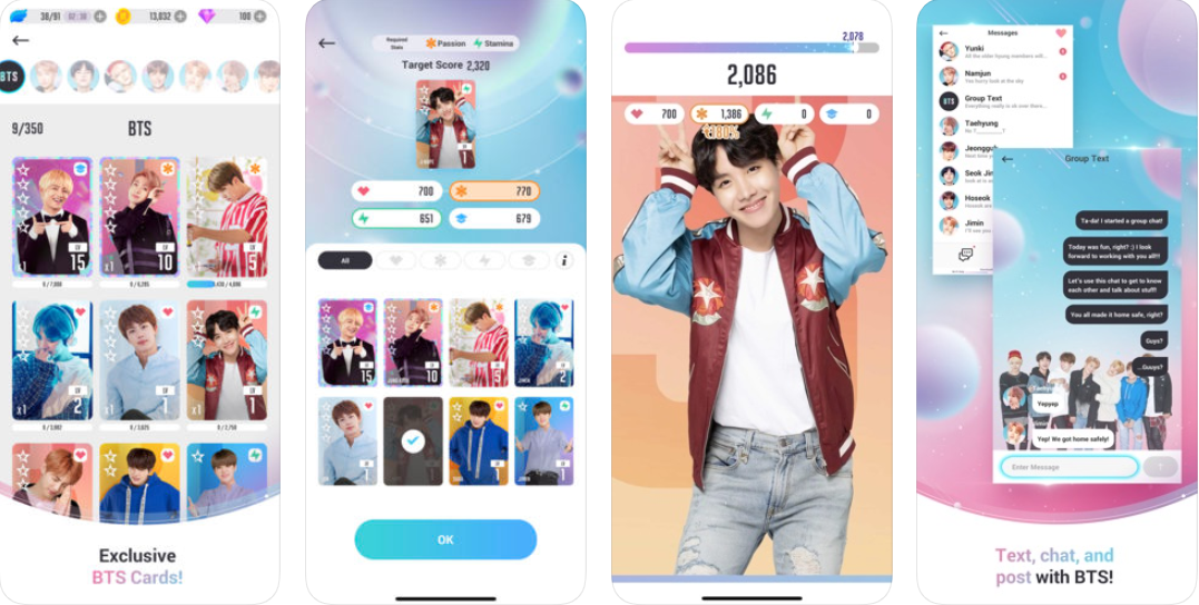 New Mobile Games - screenshots of BTS World gameplay