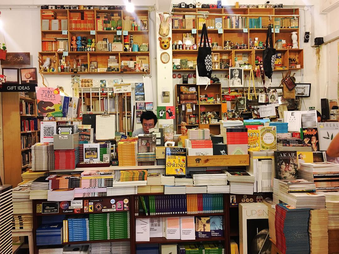 Secondhand Bookstores - Books Actually cashier
