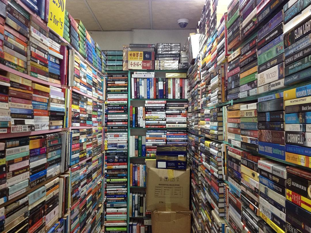 Secondhand Bookstores - Evernew Book Store bookshelves