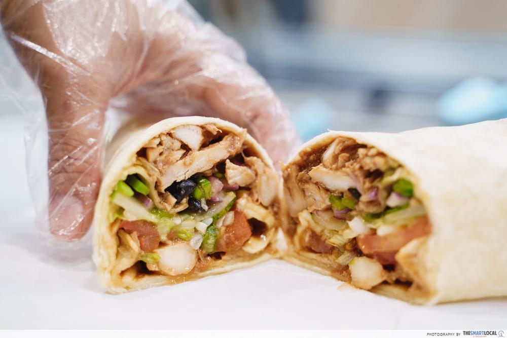 subway homestyle bbq wrap roll