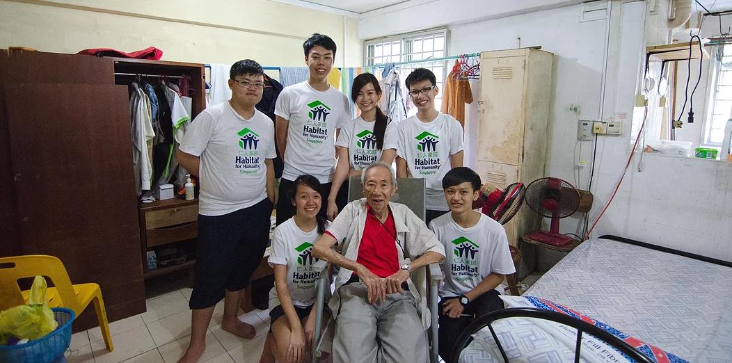 volunteer with elderly - Habitat for Humanity Singapore