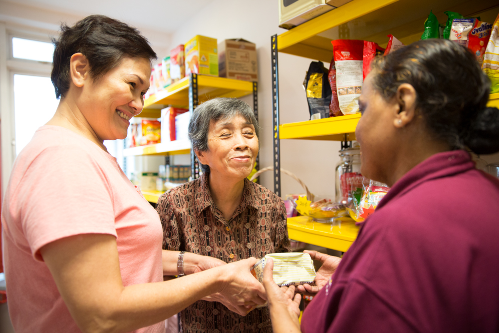 volunteer with elderly - The Salvation Army
